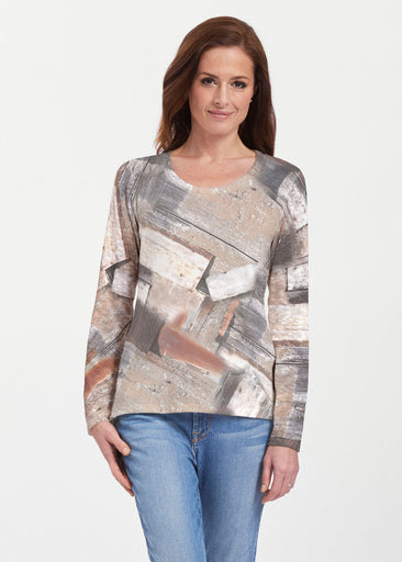 Driftwood (24013) ~ Texture Mix Long Sleeve
