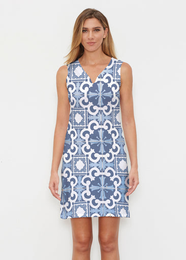 Portuguese Blue (25004) ~ Classic Sleeveless Dress