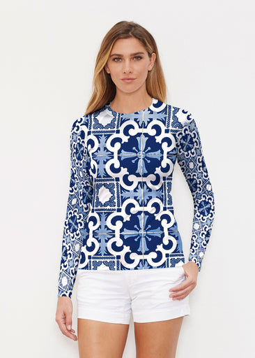 Portuguese Blue (25004) ~ Long Sleeve Rash Guard