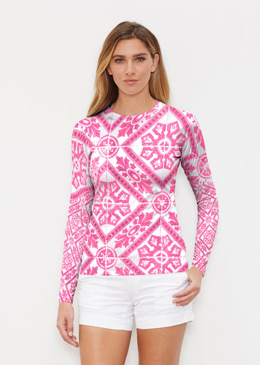 Pink Antiquity (25007) ~ Long Sleeve Rash Guard