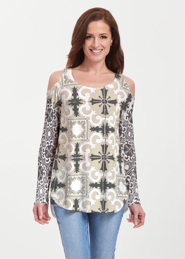 Portuguese Gold (25010) ~ Cold Shoulder Tunic