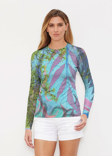 Urban Flora Aqua (25017) ~ Long Sleeve Rash Guard