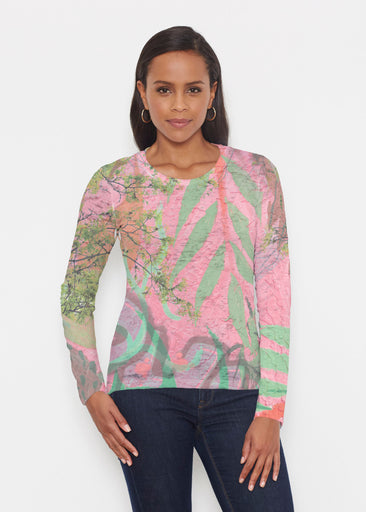 Urban Flora Pink (25018) ~ Signature Long Sleeve Crew Shirt
