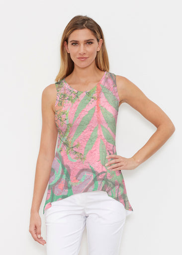 Urban Flora Pink (25018) ~ Signature High-low Tank