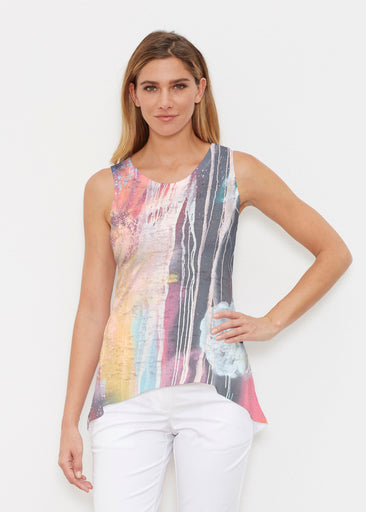 Graffiti Floral (25020) ~ Signature High-low Tank