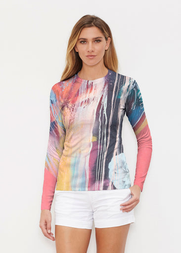 Graffiti Floral (25020) ~ Long Sleeve Rash Guard