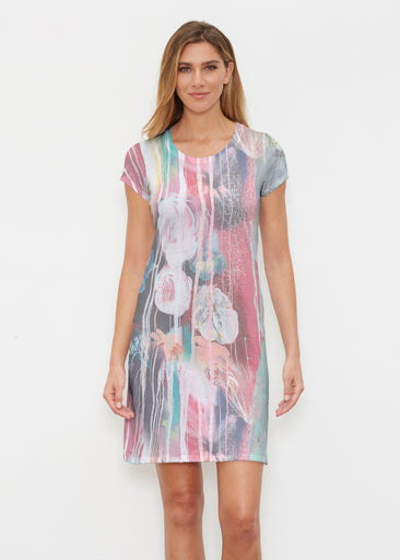 Graffiti Blossom (25021) ~ Classic Crew Dress