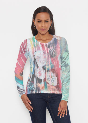 Graffiti Blossom (25021) ~ Signature Long Sleeve Crew Shirt