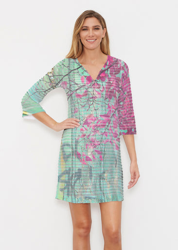 Rustic Blooms (25022) ~ Banded 3/4 Sleeve Cover-up Dress