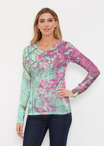 Rustic Blooms (25022) ~ Thermal Long Sleeve Crew Shirt