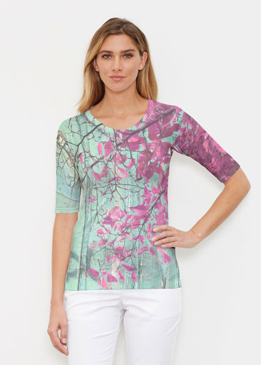Rustic Blooms (25022) ~ Elbow Sleeve Crew Shirt