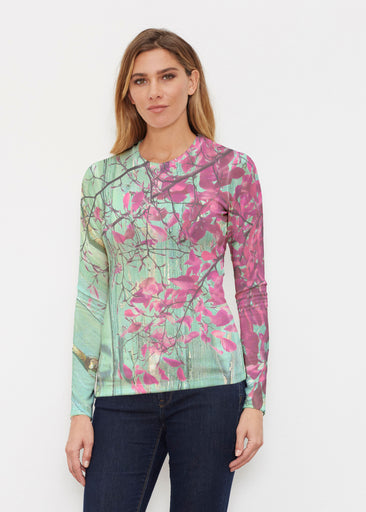 Rustic Blooms (25022) ~ Butterknit Long Sleeve Crew Top