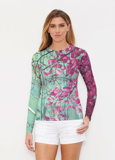 Rustic Blooms (25022) ~ Long Sleeve Rash Guard