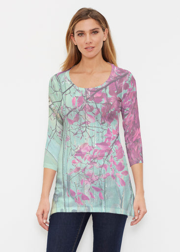 Rustic Blooms (25022) ~ Buttersoft 3/4 Sleeve Tunic