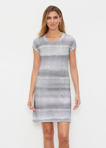 Striped Watercolor Grey (25034) ~ Classic Crew Dress