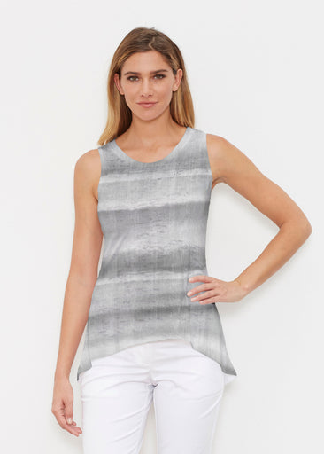 Striped Watercolor Grey (25034) ~ Signature High-low Tank