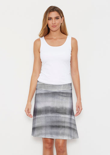 Striped Watercolor Grey (25034) ~ Silky Brenda Skirt 21 inch