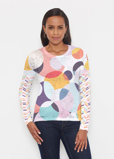 Marble Chevron (25065) ~ Signature Long Sleeve Crew Shirt