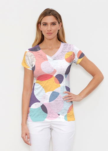 Marble Chevron (25065) ~ Signature Cap Sleeve V-Neck Shirt