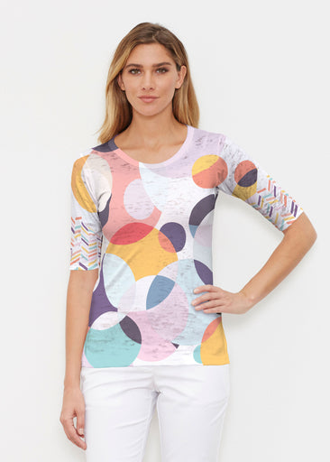 Marble Chevron (25065) ~ Signature Elbow Sleeve Crew Shirt