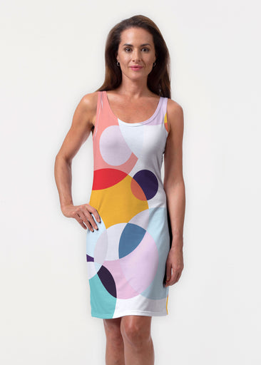 Marble Chevron (25065) ~ Vivid Scoop Tank Dress