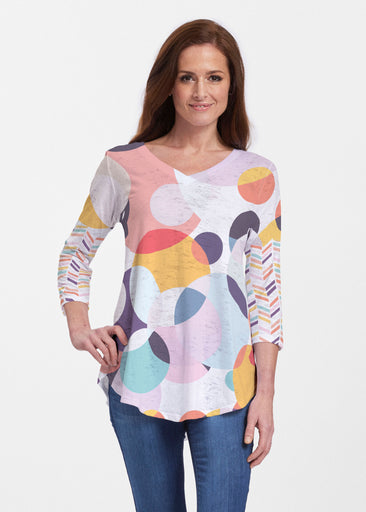 Marble Chevron (25065) ~ Signature V-neck Flowy Tunic