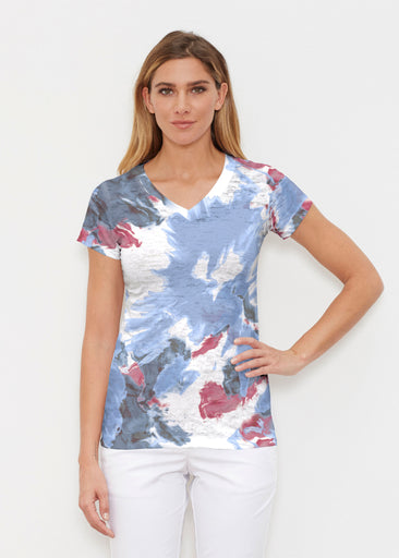 Splatter (25066) ~ Signature Cap Sleeve V-Neck Shirt