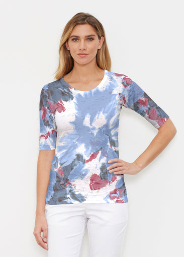 Splatter (25066) ~ Signature Elbow Sleeve Crew Shirt