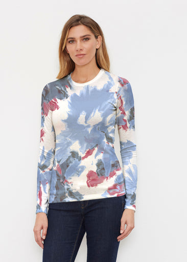 Splatter (25066) ~ Butterknit Long Sleeve Crew Top