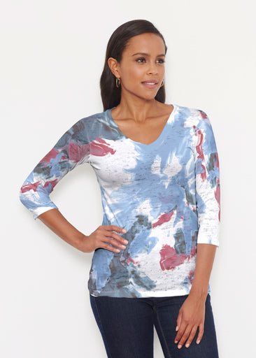 Splatter (25066) ~ Signature 3/4 V-Neck Shirt