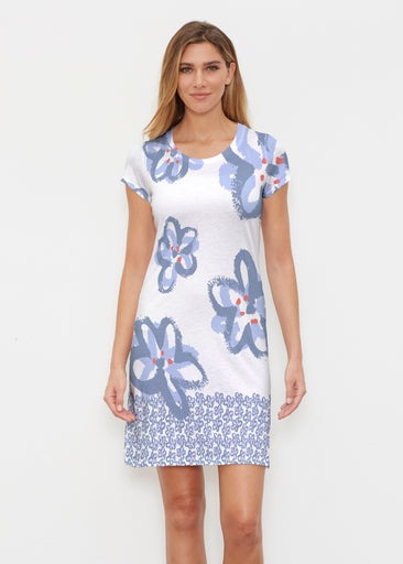 Painted Blooms (25068) ~ Classic Crew Dress