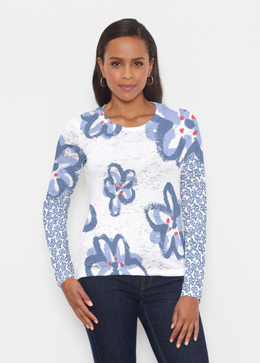 Painted Blooms (25068) ~ Signature Long Sleeve Crew Shirt