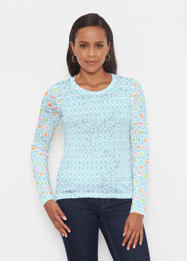 Waves of Sherbet (25072) ~ Signature Long Sleeve Crew Shirt
