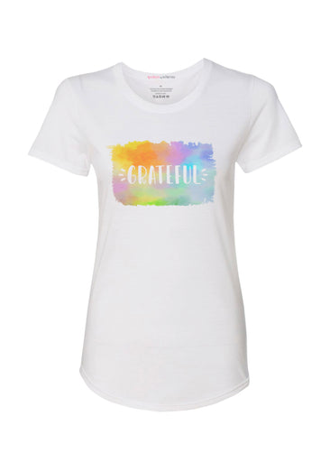 Grateful (25074PP) ~ Contoured Tri-Blend Scoop Tee