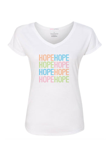 Many Hopes (25075PP) ~ Contoured Tri-Blend V-neck