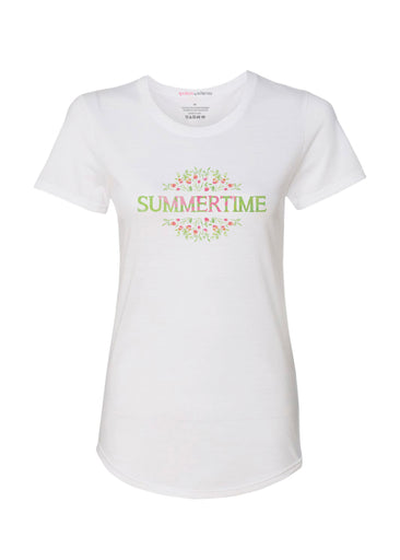 Summertime Spoken (25080PP) ~ Contoured Tri-Blend Scoop Tee