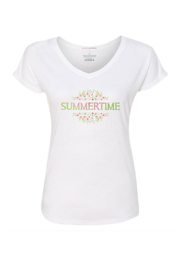 Summertime Spoken (25080PP) ~ Contoured Tri-Blend V-neck