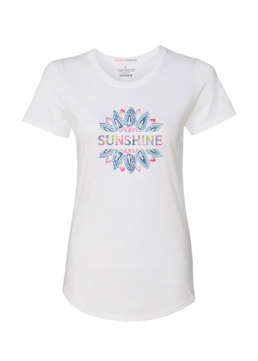 Sunshine (25081PP) ~ Contoured Tri-Blend Scoop Tee