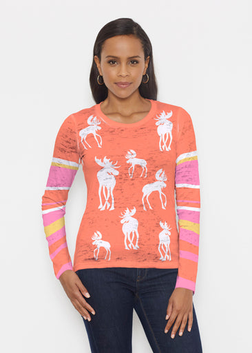 Moose Orange (2785) ~ Signature Long Sleeve Crew Shirt