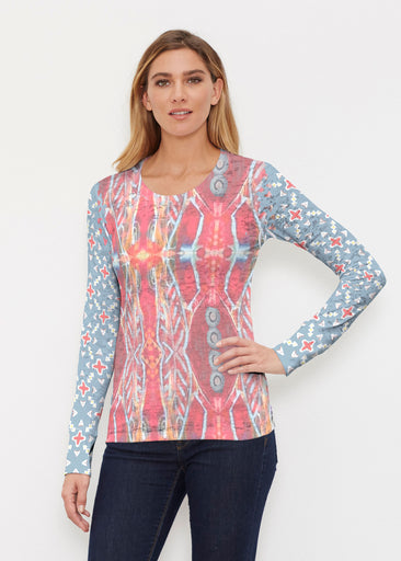 Sedona Sunset (2816) ~ Thermal Long Sleeve Crew Shirt
