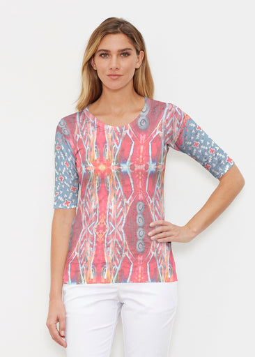 Sedona Sunset (2816) ~ Elbow Sleeve Crew Shirt