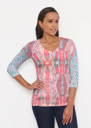 Sedona Sunset (2816) ~ Signature 3/4 V-Neck Shirt