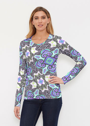 Bayou Black (2827) ~ Thermal Long Sleeve Crew Shirt