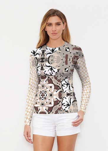 Eden Brown (2847) ~ Long Sleeve Rash Guard
