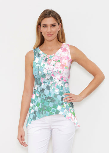 Crackle Teal (2852) ~ High-low Tank