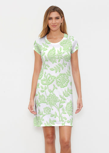 Gloria Green (2868) ~ Classic Crew Dress