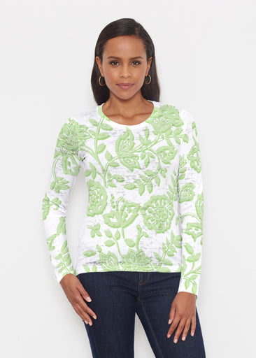 Gloria Green (2868) ~ Signature Long Sleeve Crew Shirt