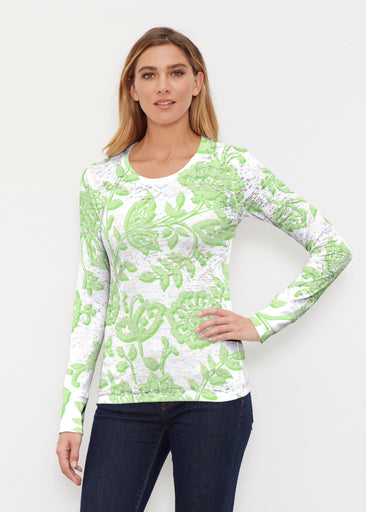 Gloria Green (2868) ~ Thermal Long Sleeve Crew Shirt