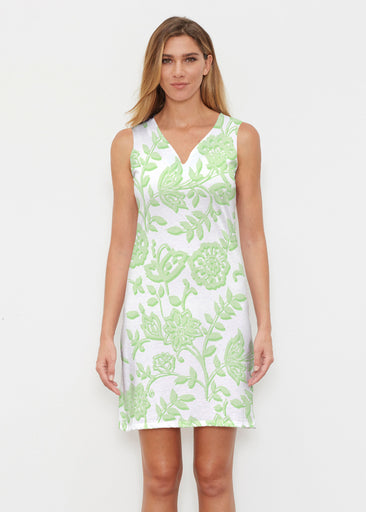 Gloria Green (2868) ~ Classic Sleeveless Dress