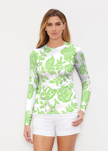 Gloria Green (2868) ~ Long Sleeve Rash Guard